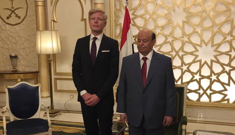 EU Ambassador to Yemen Hans Grundberg presents his credentials